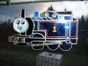 Thomas Train Stained Glass Sun Catcher