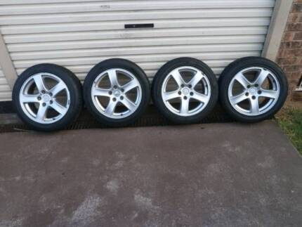 Holden commodore VX SS 17 inch alloy mag wheels + new tyres Campbelltown Campbelltown Area Preview