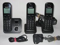 set Panasonic KX-TG6803 Digital Cordless Phones + answer m/c base