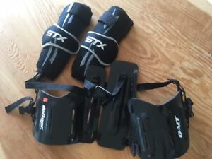 Youth Lacrosse Equipment - kidney protector & elbow guards