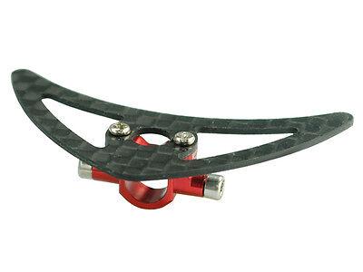 Tail Boom Support Mount - Microheli Aluminum Tail Boom Support Mount w/ Fin (RED) - BLADE 200 SRX
