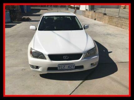 2003 Lexus IS200 GXE10R MY02 Sports Luxury White 4 Speed Automatic Sedan