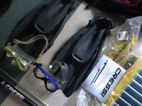 Lot of diving/snorkeling equipment, Beaver, Cressi. offers accepted