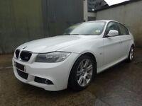 FOR PARTS - 10 BMW E90 LCI 318D M-SPORT N47D20C MANUAL WHITE SAT NAV - SPARES