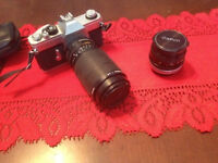 Canon TX 35mm Film Camera with 70-200mm Zoom Lens & Accessories