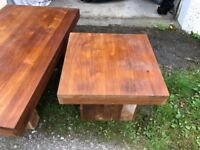 Reclaimed teak coffee and lamp tables