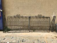 Wrought Iron Double Gates & Post's