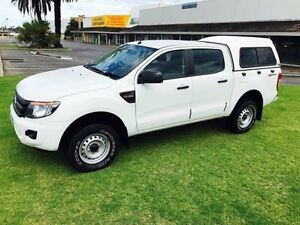 2013 Ford Ranger PX XL 2.2 HI-Rider (4x2) White 6 Speed Automatic Crew C/Chas Maddington Gosnells Area Preview