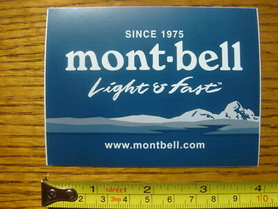 MONTBELL Jacket STICKER Decal LIGHT & FAST NEW for sale  Shipping to India
