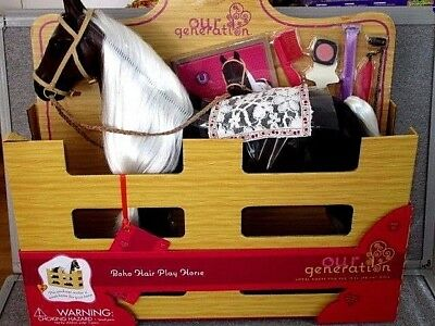 Our Generation Boho Hair Play HORSE -New -Battat