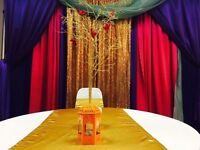 Party chair cover rental + other decorations rental