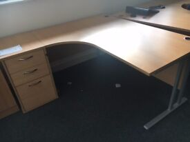 office furniture 1.6 meter radial desks