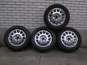 4 FORD OEM CHROME RIMS FOR: TAURUS,SABLE,WINDSTAR + WITH TIRES
