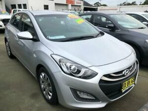 2013 Hyundai i30 GD MY14 Active 1.6 CRDi Silver 6 Speed Automatic Hatchback Granville Parramatta Area Preview