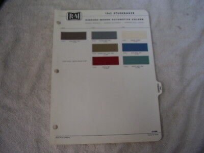 1963 STUDEBAKER PAINT CHIPS