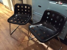 2 x Robin Day Polo Dining Chairs in Black