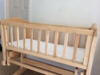 Lovely Wooden Crib - Rocker / Glider Excellent Condition