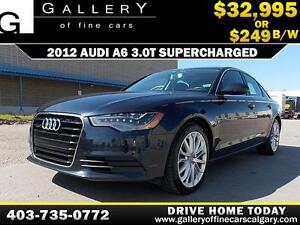 2012 Audi A6 3.0T QUATTRO $249 bi-weekly APPLY NOW DRIVE NOW