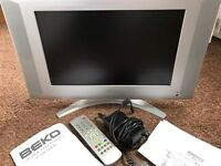 """Beko 17"""" Wide Screen TV with instructions, remote control, TV stand and power cable"""