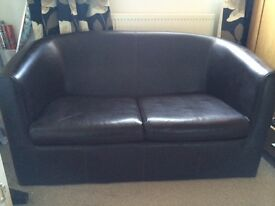 2 seater brown sofa