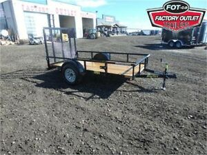 5 X 10 UTILITY TRAILER - RAMPGATE, TOP RAIL *OUT THE DOOR PRICE*