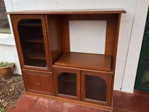Solid timber TV cabinet Seacliff Holdfast Bay Preview