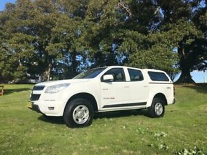 2012 Holden Colorado RG LX (4x4) White 6 Speed Automatic Crew Cab Pickup Islington Newcastle Area Preview