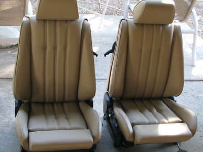 BMW E30 325i 318i M3 SPORT SEATS REUPHOLSTERED OEM NATURAL LEATHER BEAUTIFUL  Bmw 325i E30