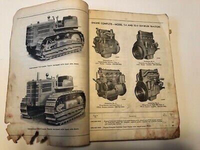 International Tc-24d Parts Catalog T-9 And Td-9 Crawler Tractors 1954