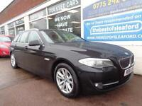 BMW 520 2.0TD auto 2012 SE Estate Nav/leather F/S/H 2 keys P/X
