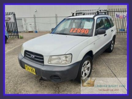 2002 Subaru Forester MY02 White 5 Speed Manual Wagon Lansvale Liverpool Area Preview