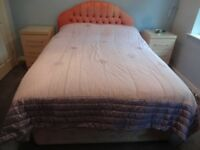 Mauve bedspread (quilted) - size double