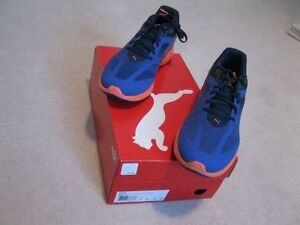 New never used Puma Size 10 Deep Blue Ignite running shoes