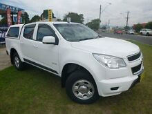 2014 Holden Colorado RG MY14 LX (4x2) White 6 Speed Automatic Crewcab Brownsville Wollongong Area Preview