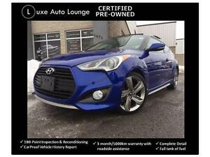 2013 Hyundai Veloster Turbo - NAVIGATION, LEATHER, SUNROOF, 6SPD
