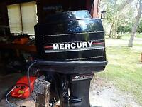 40 HP MERCURY OUTBOARD, 2 STROKE, 4 CYL