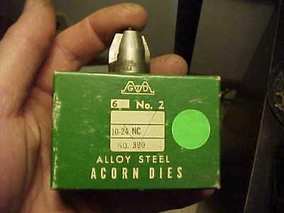 NOS Greenfield 12-24 NC Acorn Die No.2 USA Watchmaker Gunsmith Hobbyist