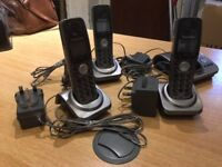 Panasonic Cordless telephone with three additional handsets plus base
