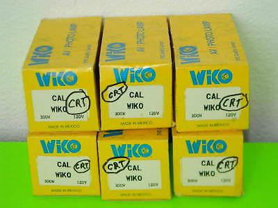 6x New Wiko Avphoto Lamp Cal Projector Light Bulb 300w 120v Lot Of 6