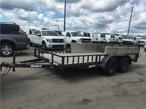 2013 Diamond C Flat Bed - Two Axle Trailer