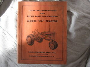 Allice Chalmers CA tractor , and CA  accessories manuals (4 pc) Cambridge Kitchener Area image 2