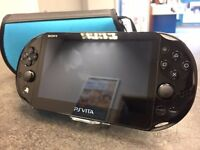 Sony PS Vita Slim with Case & Usb Charger Cable