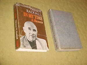 IN MY TIME A MEMOIR book by Raddall autographed
