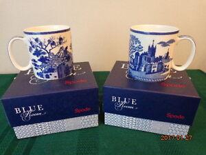 SPODE Blue Room Gothic Castle Mugs: 2 Mugs for $20.00!  WOW!