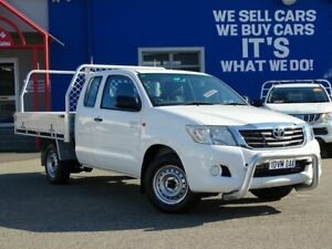 2012 Toyota Hilux GGN15R MY12 SR Xtra Cab 4x2 White 5 Speed Automatic Utility Welshpool Canning Area Preview