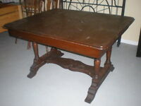Solid Wooden Antique Dining Room Table
