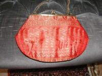 High quality Indian silk shoulder bag NEW UNUSED