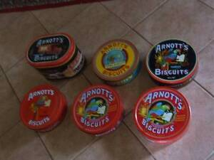 Arnott's biscuit tins and plates Spencer Park Albany Area Preview
