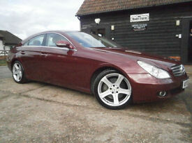 0505 MERCEDES-BENZ CLS 350 3.7 V6 AUTOMATIC 7G- TRONIC 74K FSH BORDEAUX RED MET.