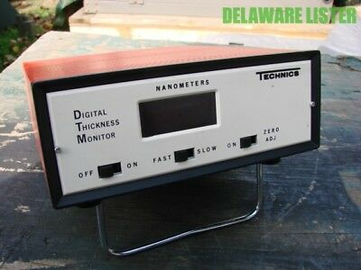 Vintage Technics Digital Thickness Monitor Model Dtm-q Nanometers 1 Amp 60 Hz